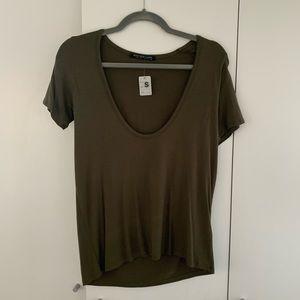 Deep scoop T shirt